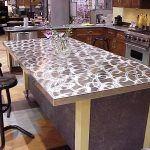 Patterned quartz countertop