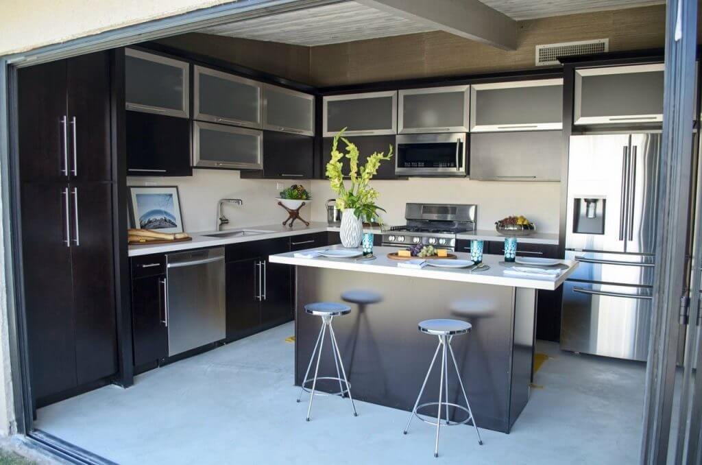 Stainless steel in remodeled garage