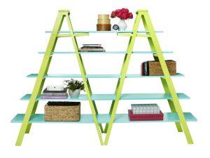 Booksheve made of ladders