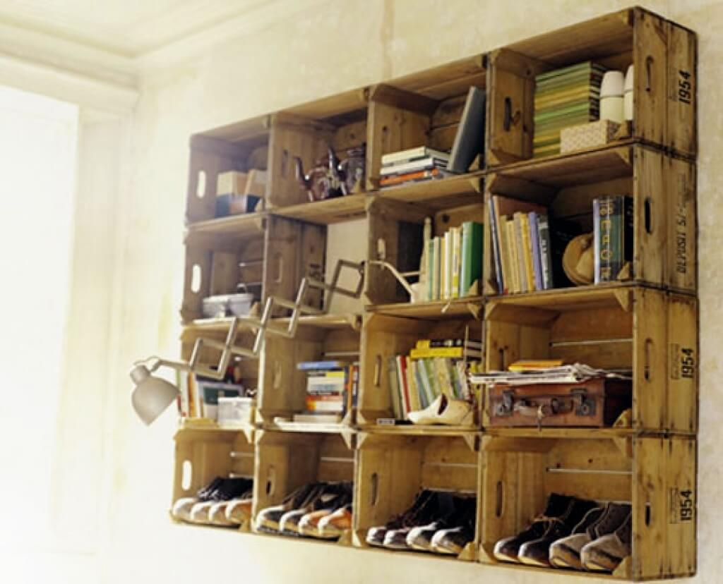 Wine Crate Bookshelves Part - 39: Crates As Bookshelves
