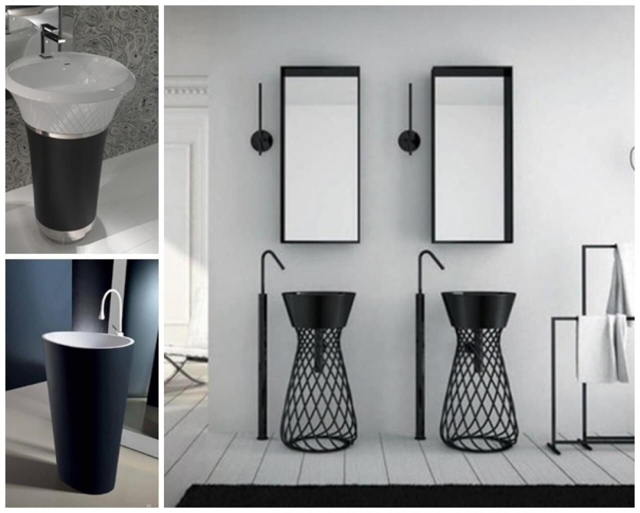 Decorating Ideas In Bathroom Designs With Pedestal Sinks