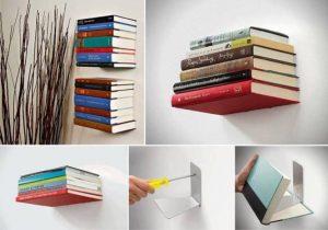Invisible bookshelfs