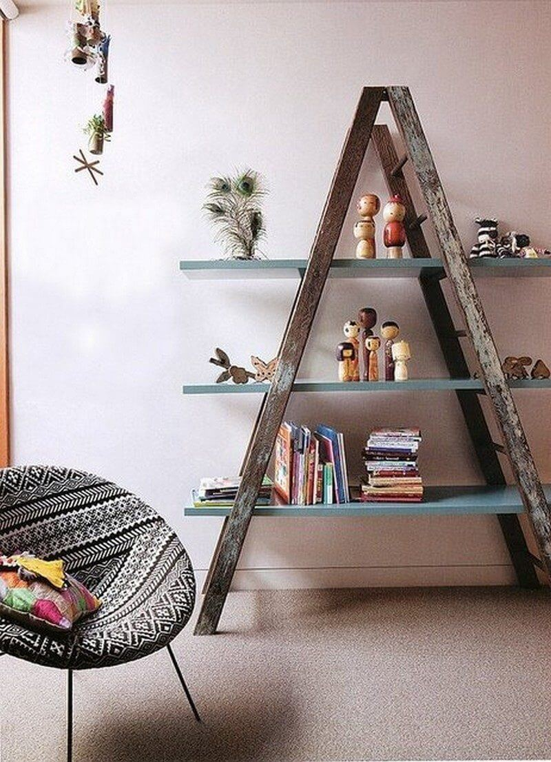 Ladder as bookshelves