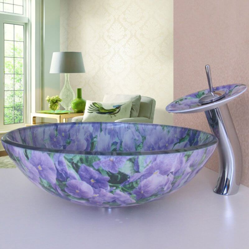 Purple Bathroom sink