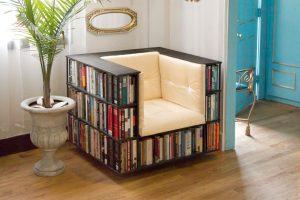 Reading bookshelf