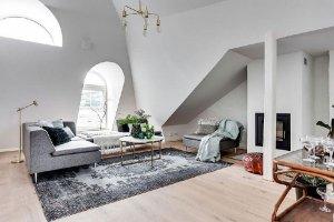 Small attic apartment in Stockholm
