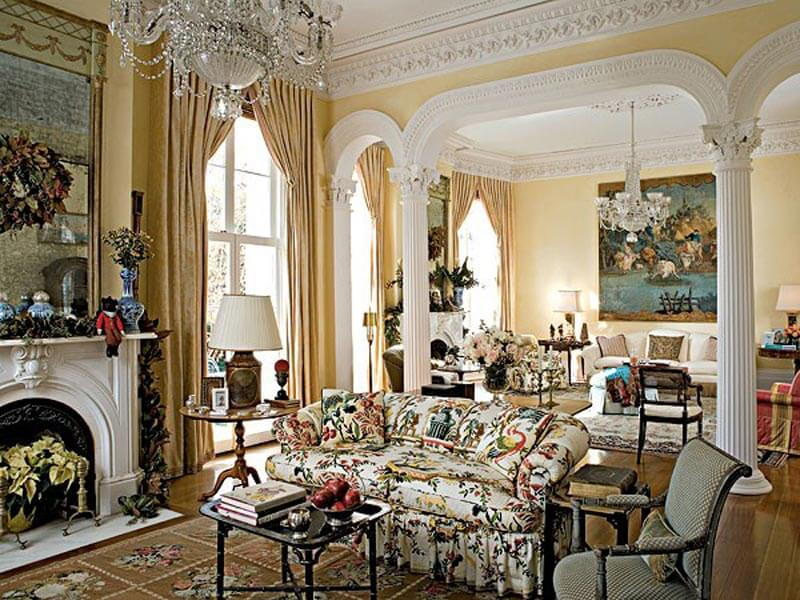 If you like glam and shine, you will love French style living rooms ...