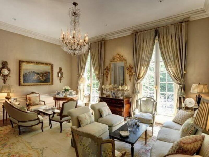 living room in a French style