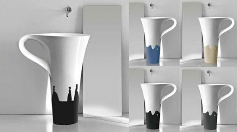 sinks with a shape of cup
