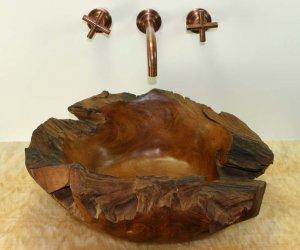 unique wood sink