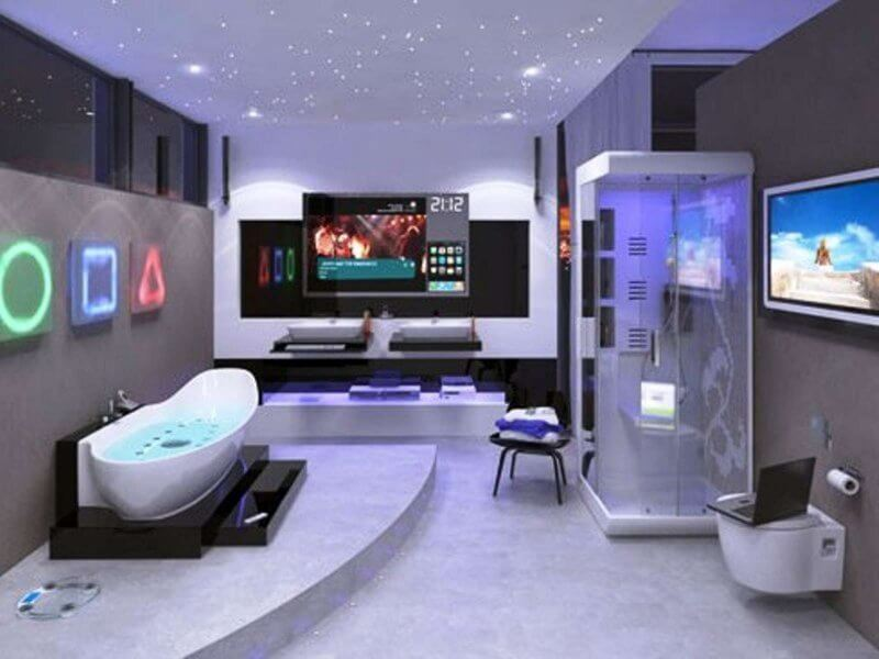 Modern Hi-tech bathroom