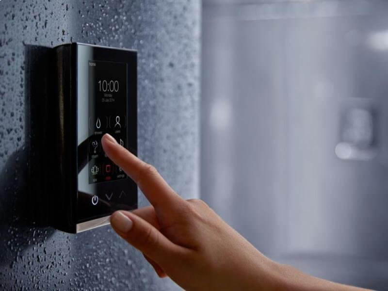 Shower with LED display panel