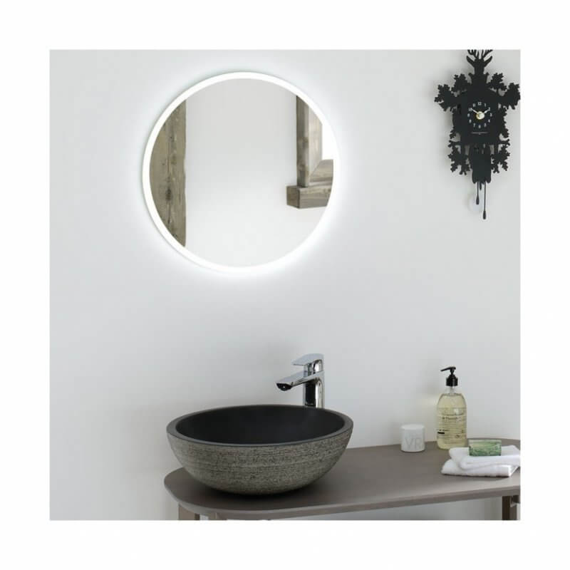 Simple mirror in bathroom