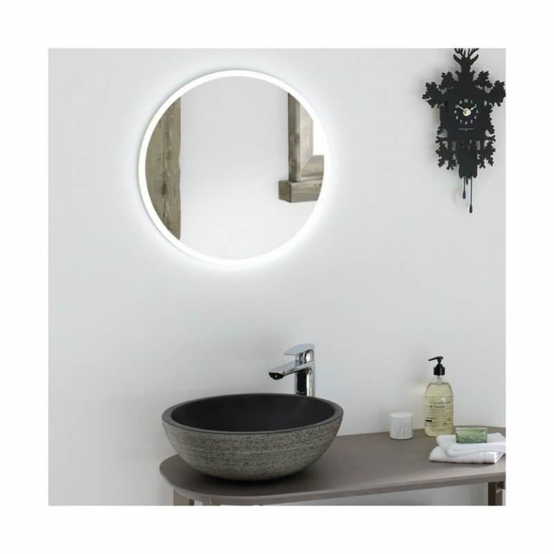 Simple mirror in bathroom