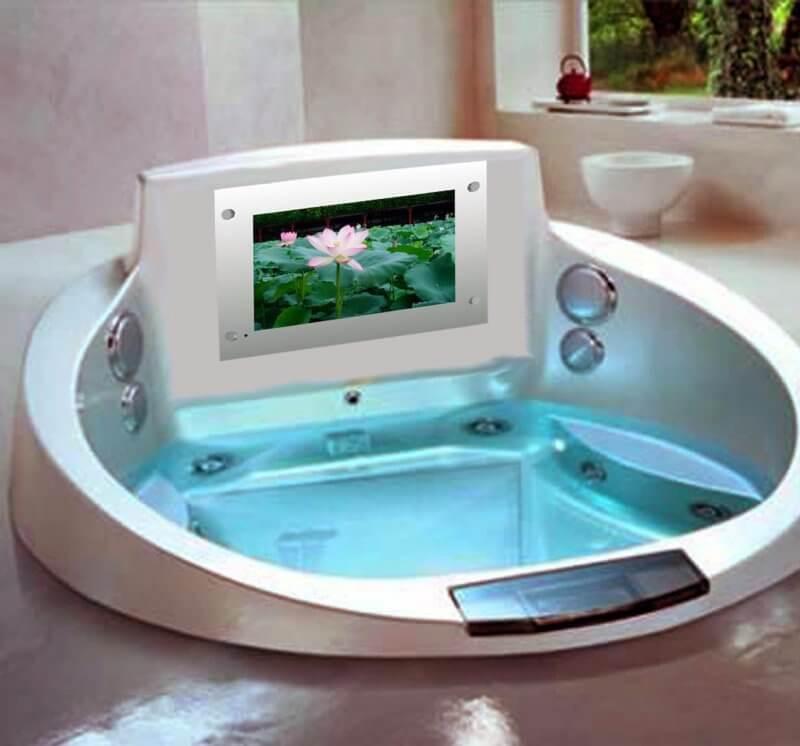 TV in a bathtub