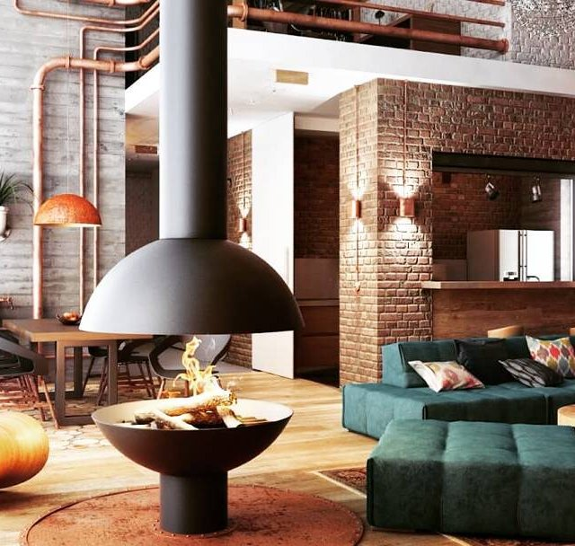 Industrial style living room Read more at our blog Interiordesignparadisecomhellip