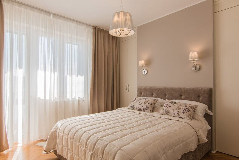 Amazing bedroom in renovated apartment