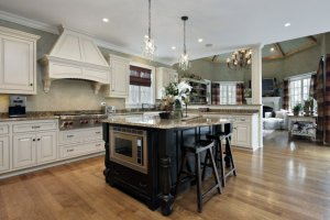 Kitchen island with oven