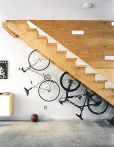 Bike storage staircase