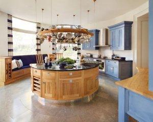 Circle kitchen island
