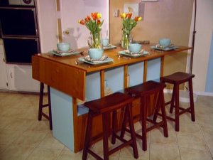 Folding kitchen island