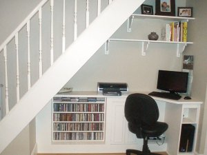 Office under stairs