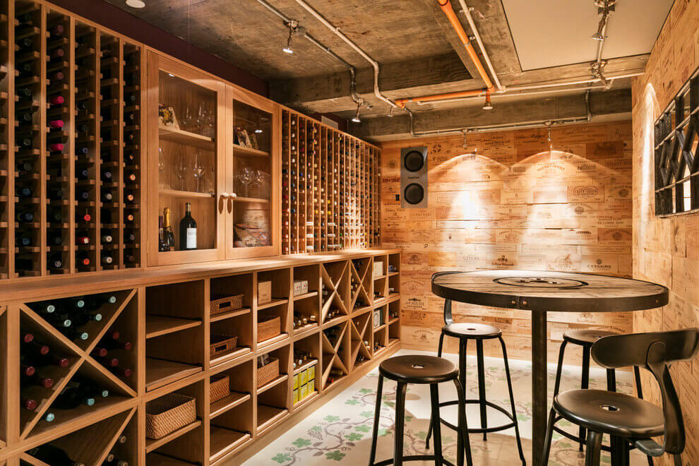 Top redesign of the house at notting hill interior for Garage wine cellar