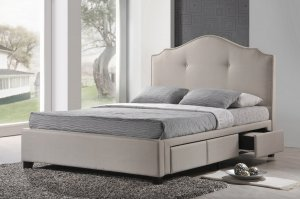 King-size padded headboards with drawers