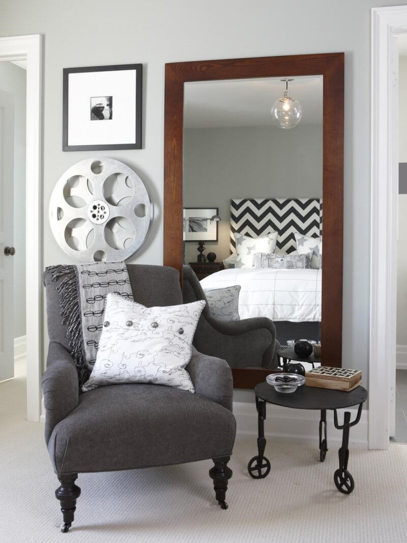 Large mirror in tight rooms