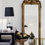 Large mirror on the wall