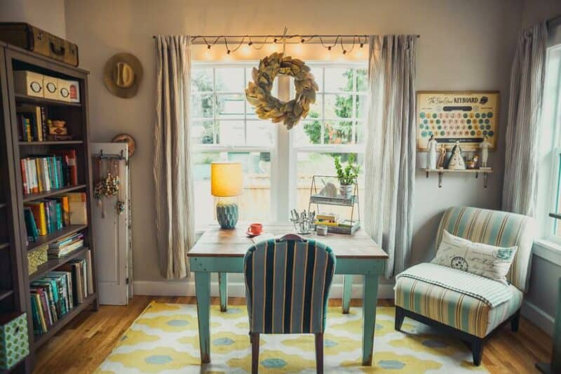A bright room and a lamp