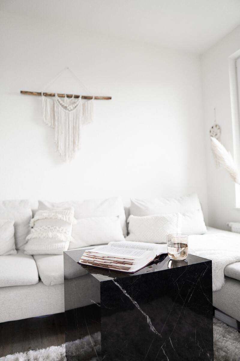 Use a white furniture to brighten your home