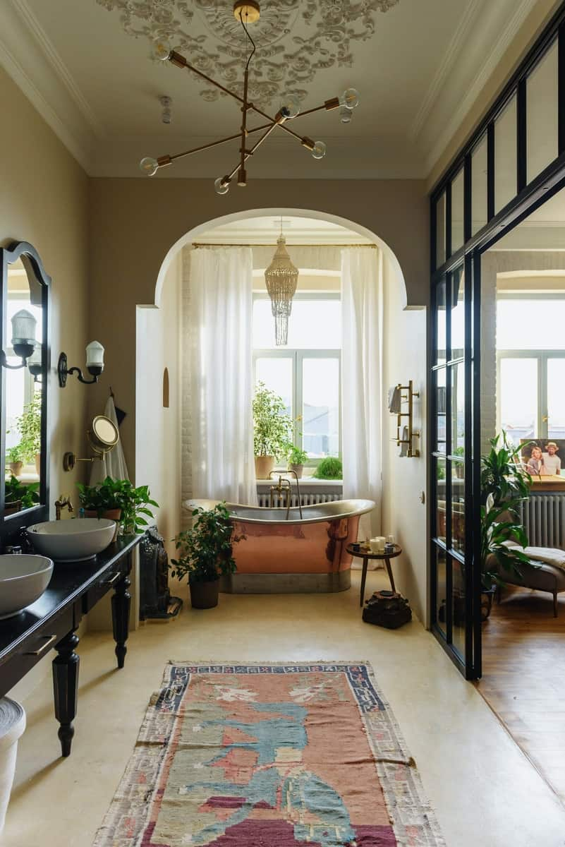 Luxury bathroom inspired by Africa