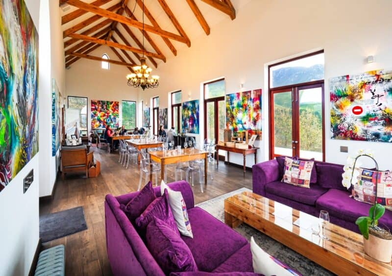 Colorful Africa-inspired living room