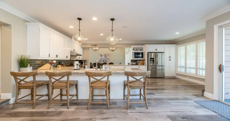 Kitchen and dining room inspired by Africa