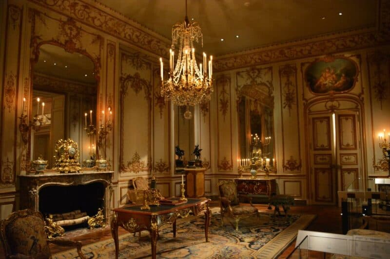 Living room in a French castle