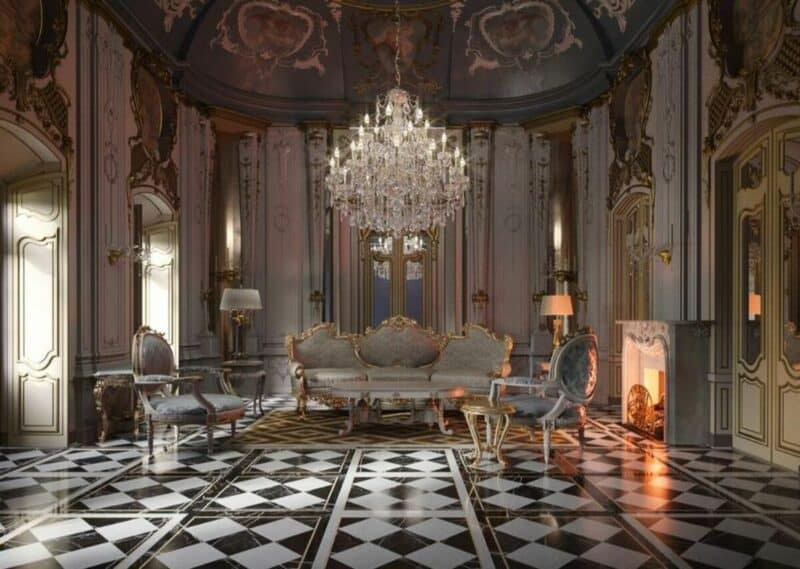 Another French baroque living room