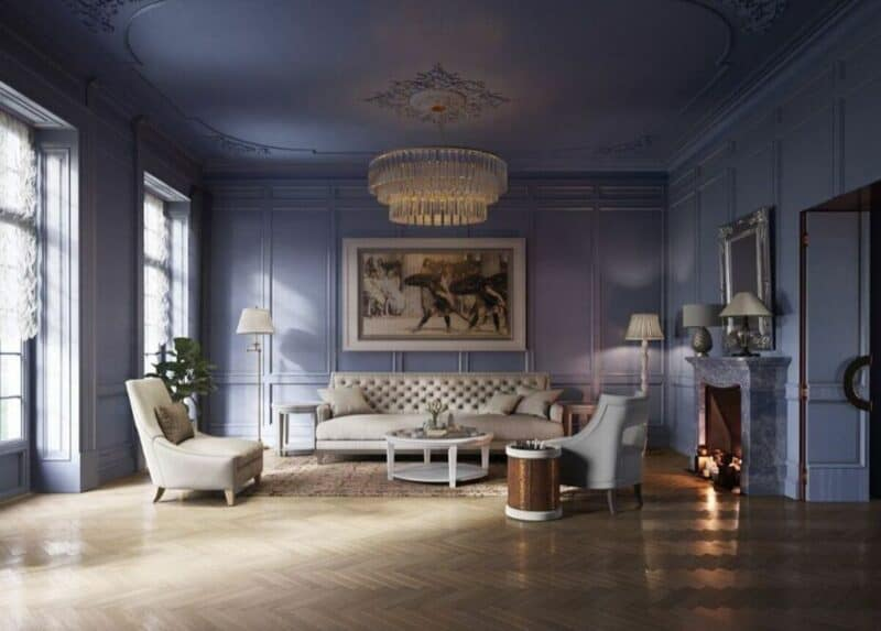 Neoclassical living space
