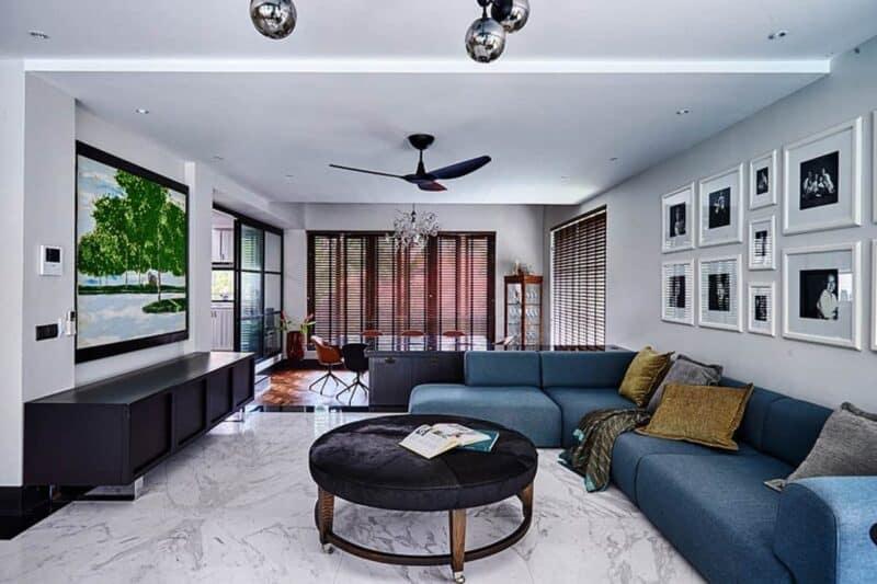 Contemporary Art Deco living room