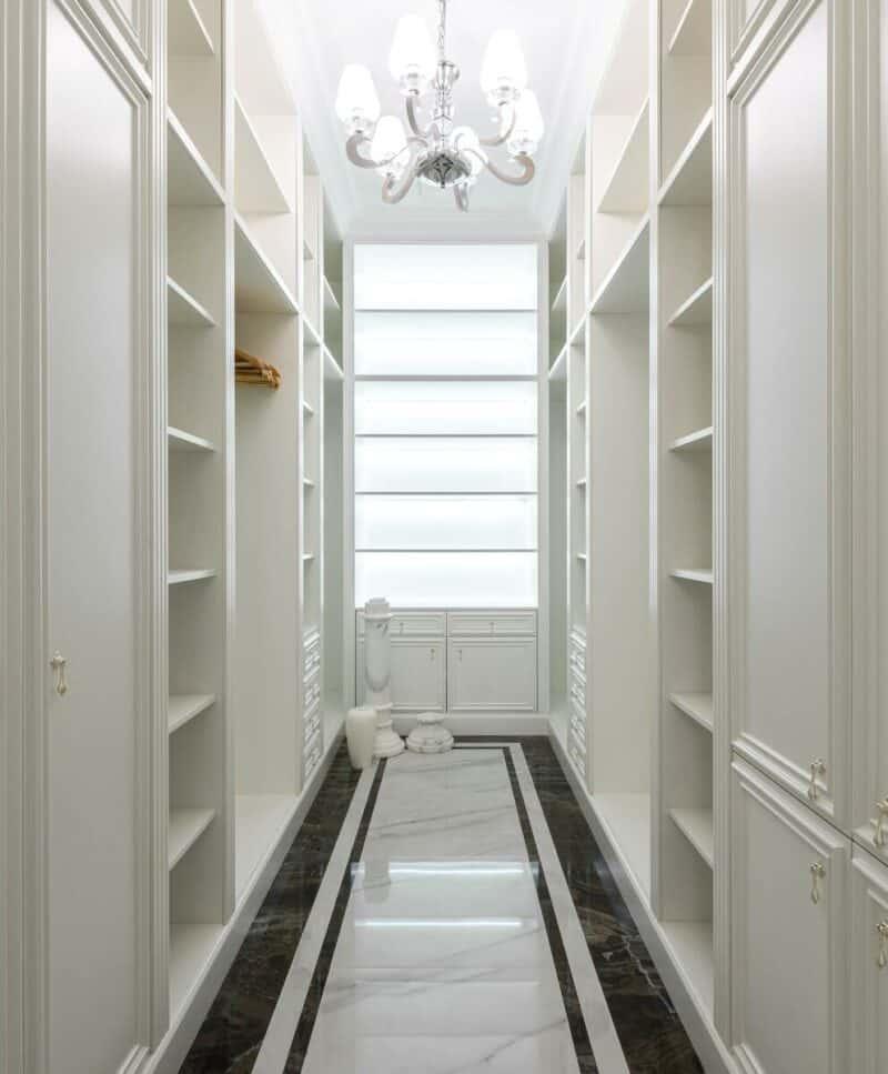 Built-in shelves