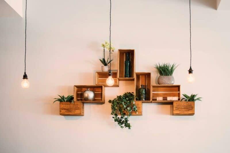 Interesting floating shelves
