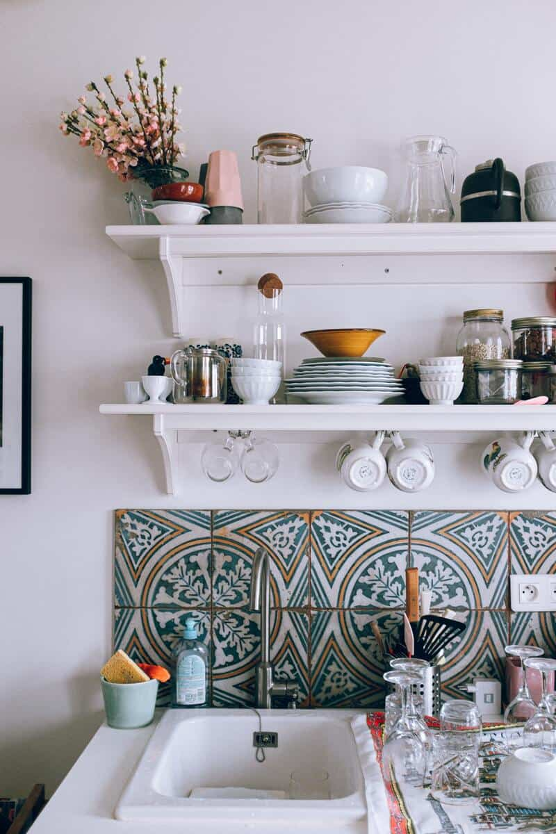 Well arranged space in the kitchen