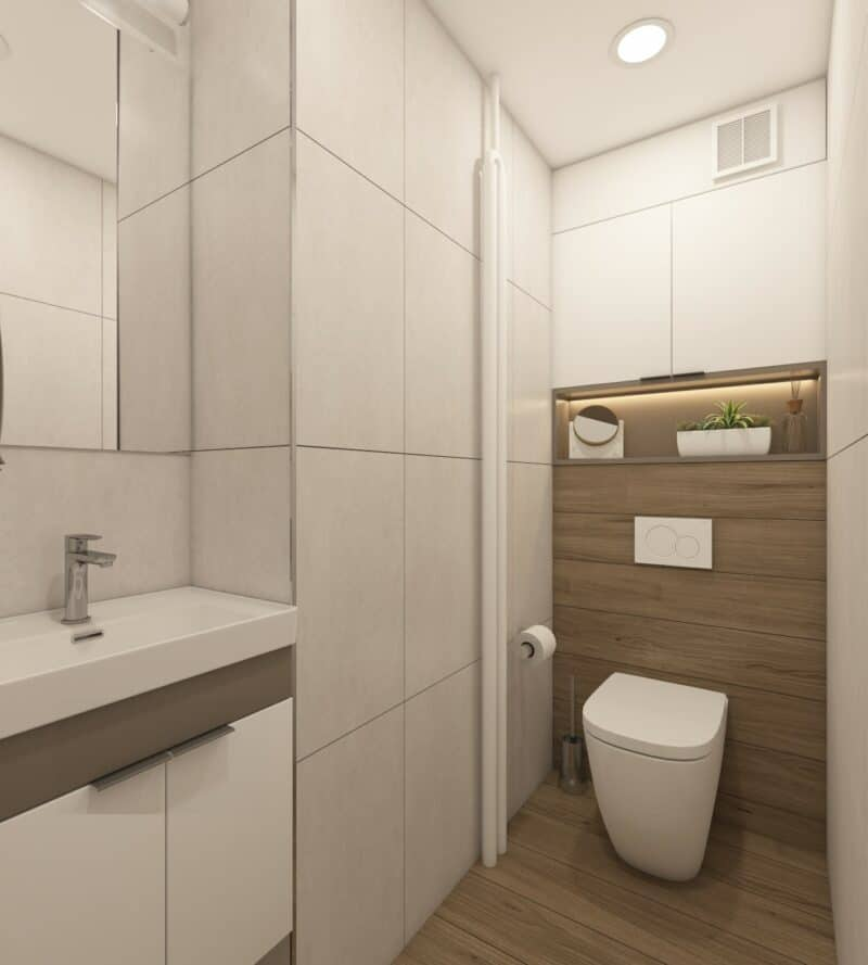 Light color for small bathrooms