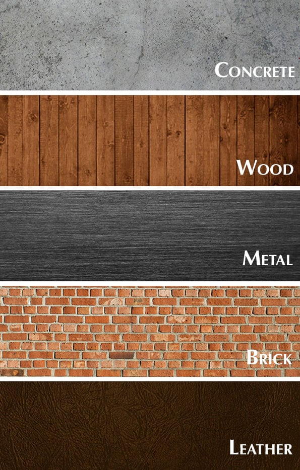 Industrial style materials