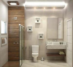A shower cabin